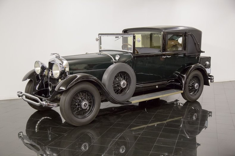 1929 Lincoln Model L All Weather Non-Collapsible Cabriolet Town Car by LeBaron
