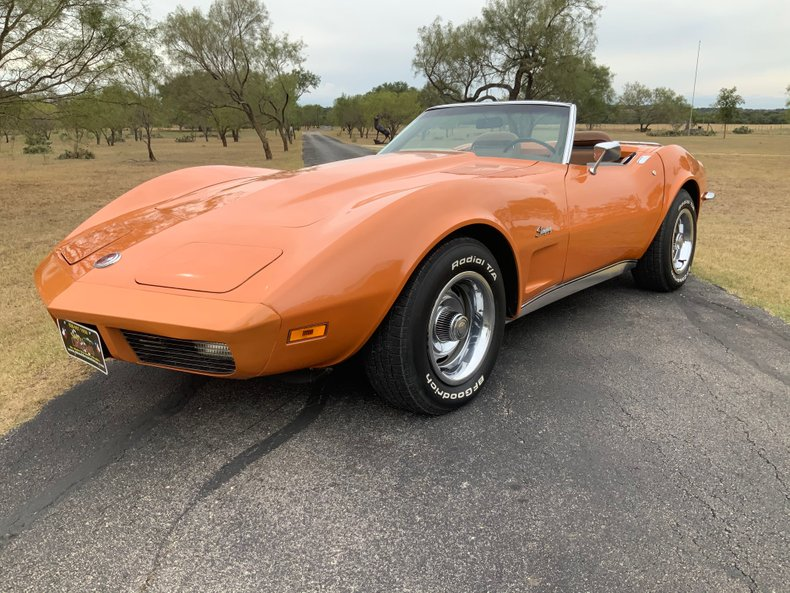 1973 Chevrolet Corvette 42k miles, Convertible with Both Tops, #'s Match, 4-sp.