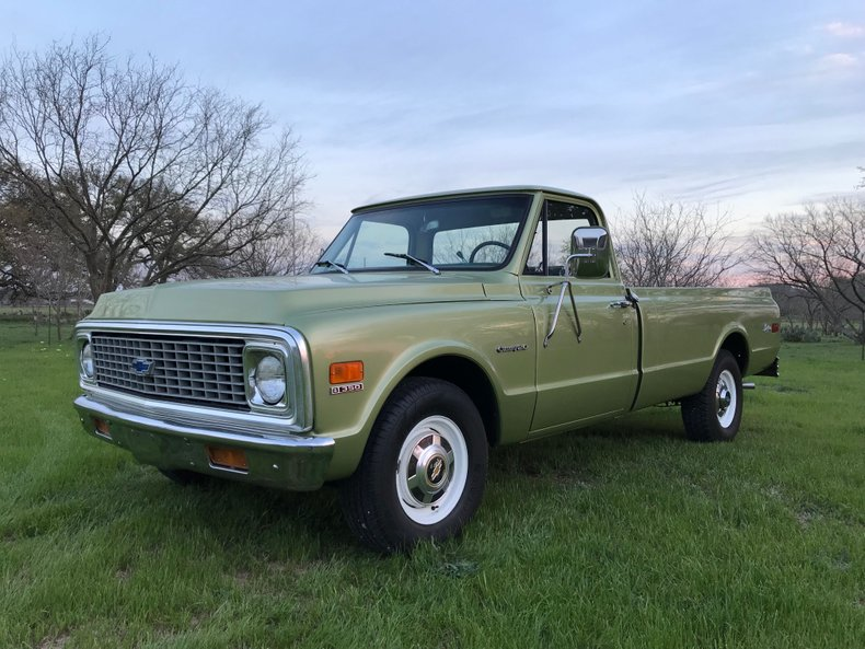 1971 Chevrolet C20 Rare Longhorn Edition-PS, PB, A/C, Houndstooth