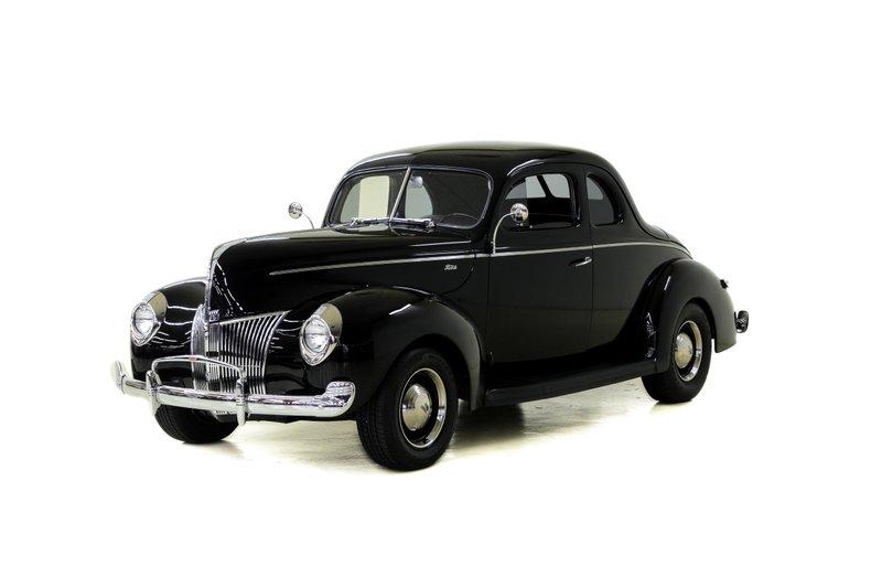 1940 Standard -- 1940 Ford Standard  1068 Miles Black Coupe 239 ci 3 spd Manual on Column