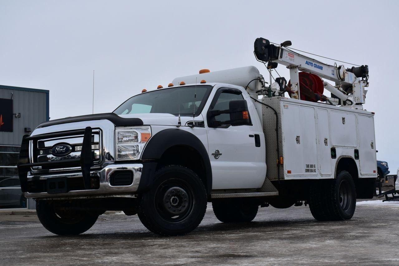 2012 ford f 550 service body w crane