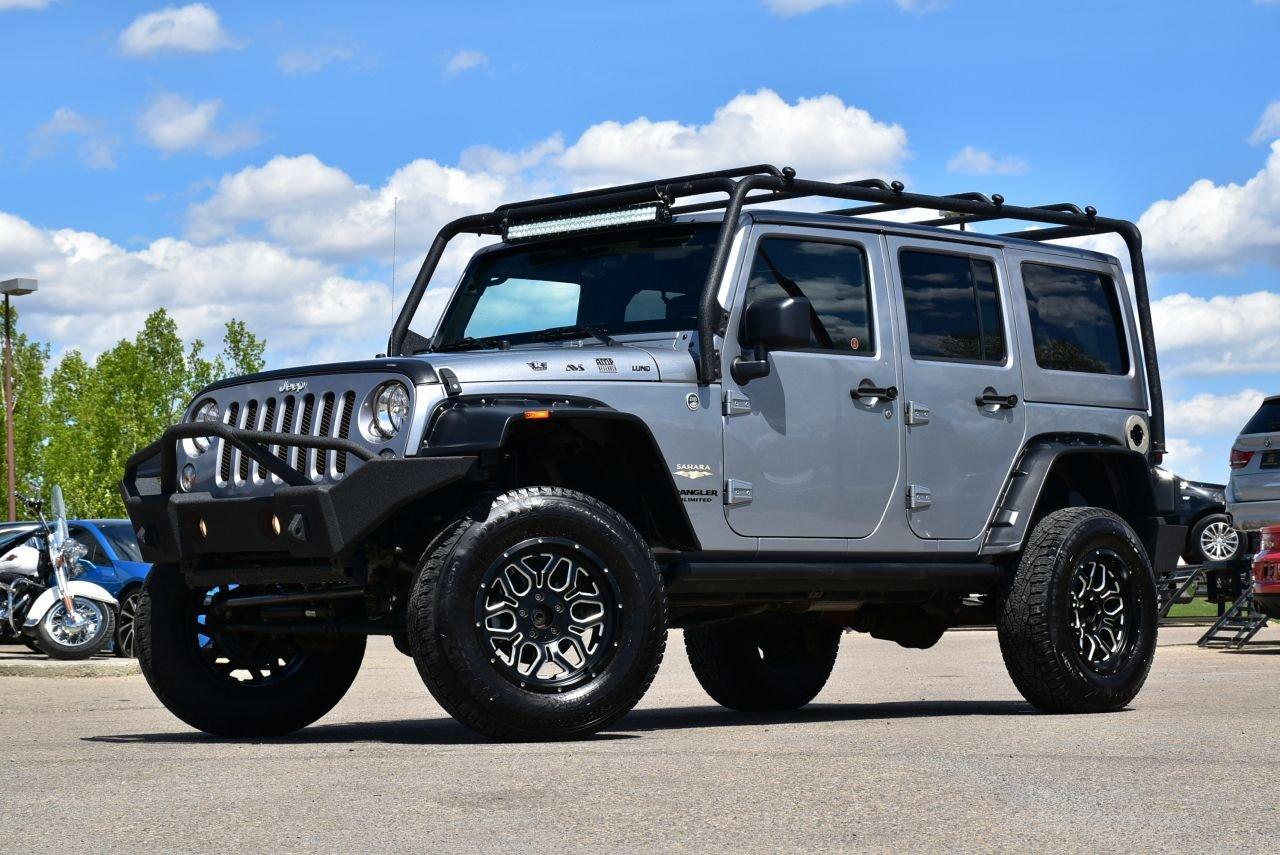 2015 jeep wrangler unlimited sahara custom loaded