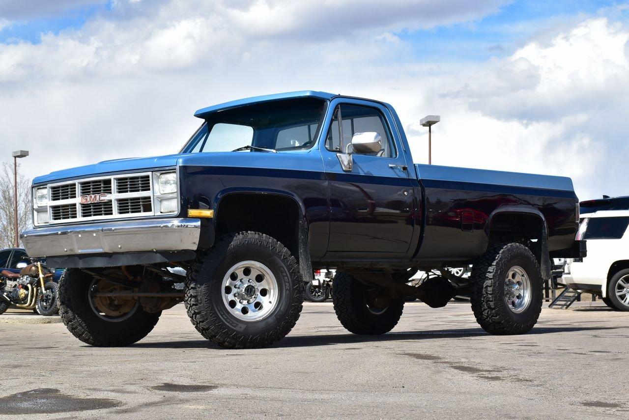 1983 gmc pickup k2500 lifted 4x4 4 speed