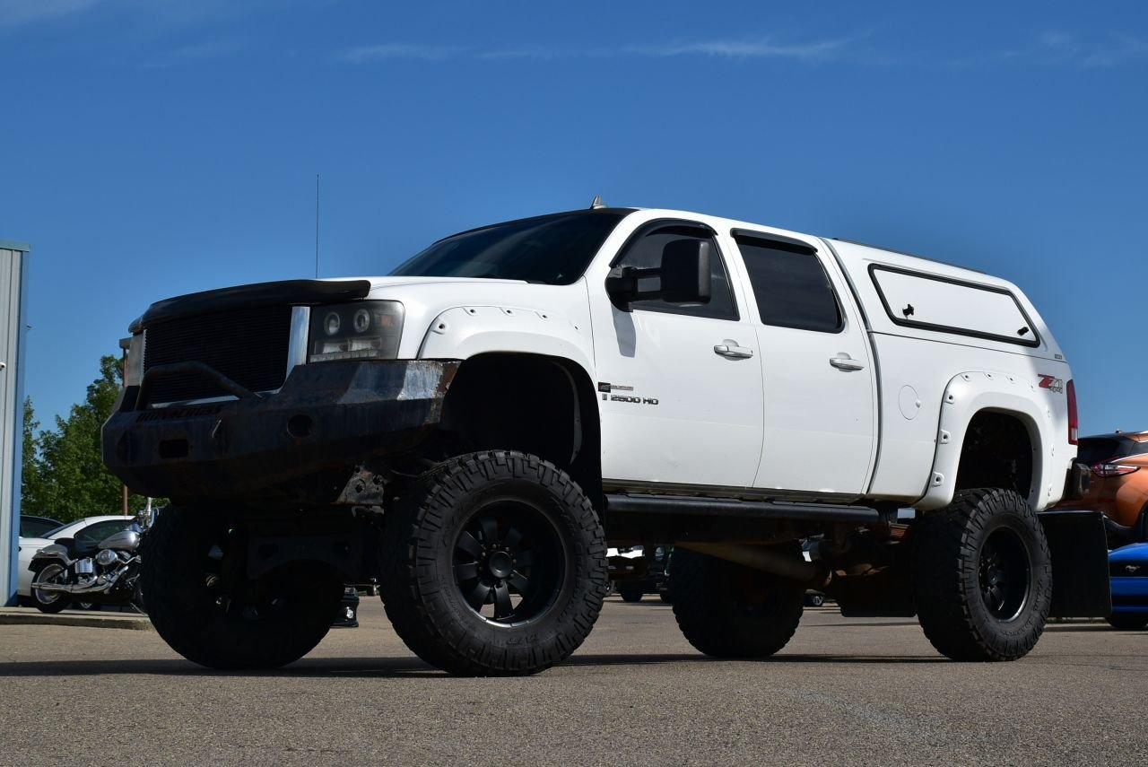 2008 gmc sierra 2500hd lifted loaded duramax