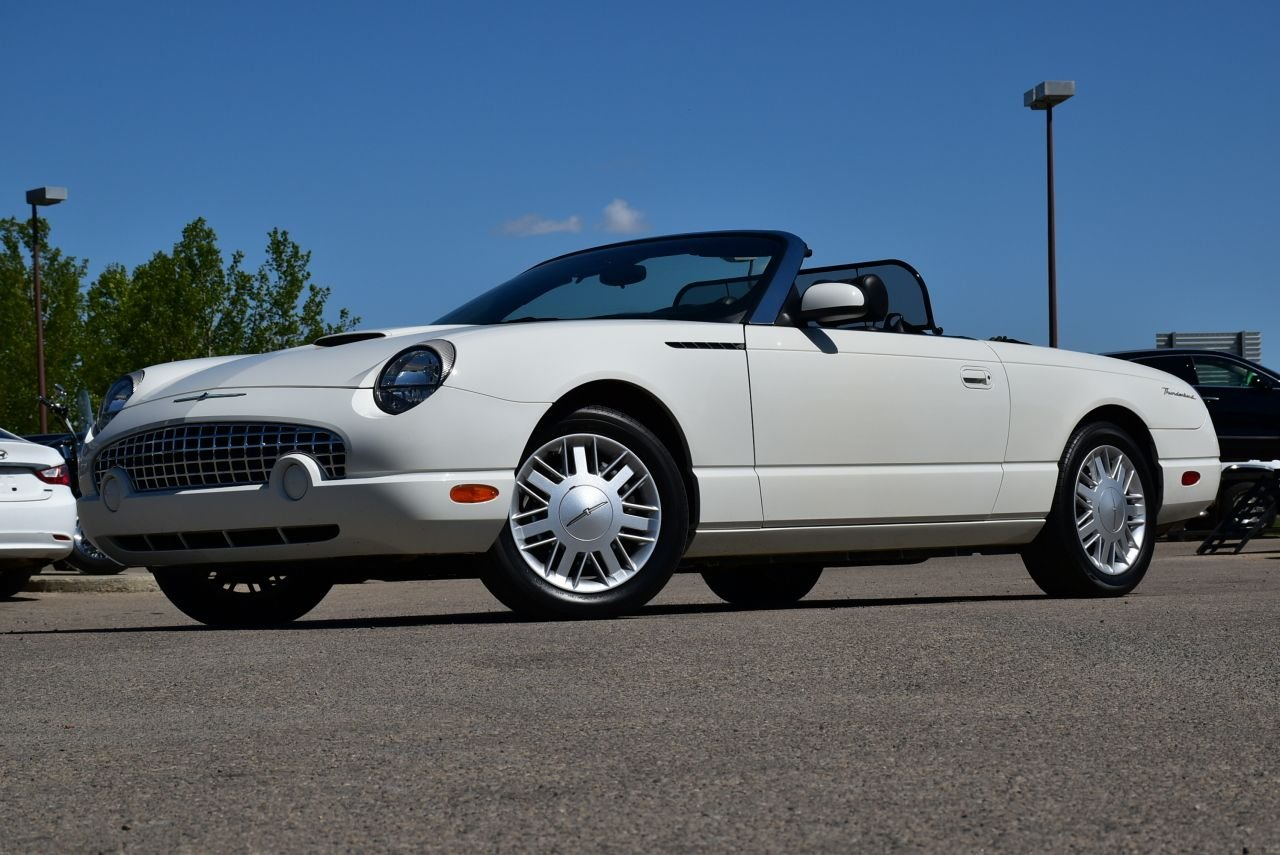 2002 ford thunderbird convertible w hardtop and super low km
