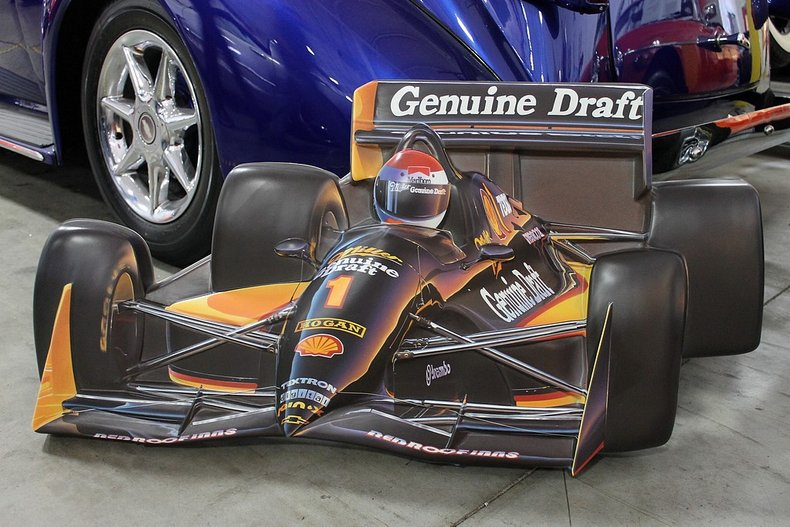 Miller genuine draft indy car sign