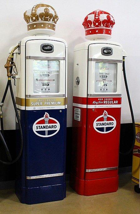 1940 standard crown gas pumps