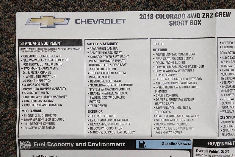 2018 Chevrolet Colorado ZR2 for sale #5873 | Motorious