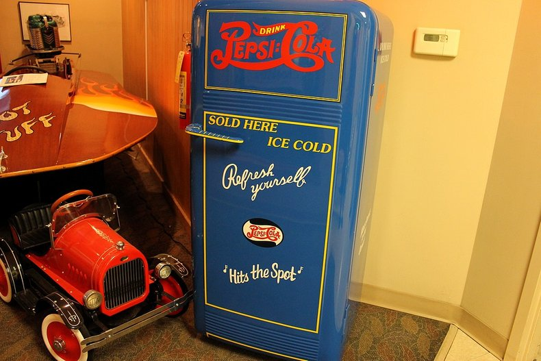 Blue pepsi cola ice box