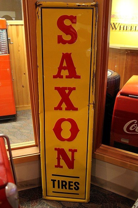Saxon tires sign