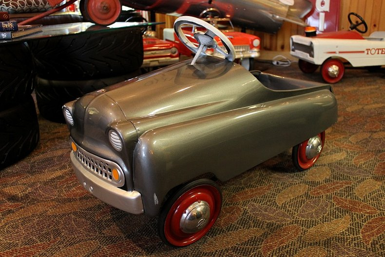 Gray roadster pedal car