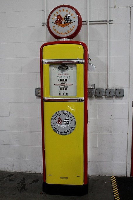 Corvette gas pump