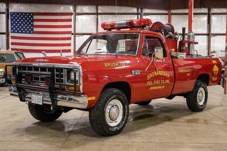 1985 dodge d350 firetruck