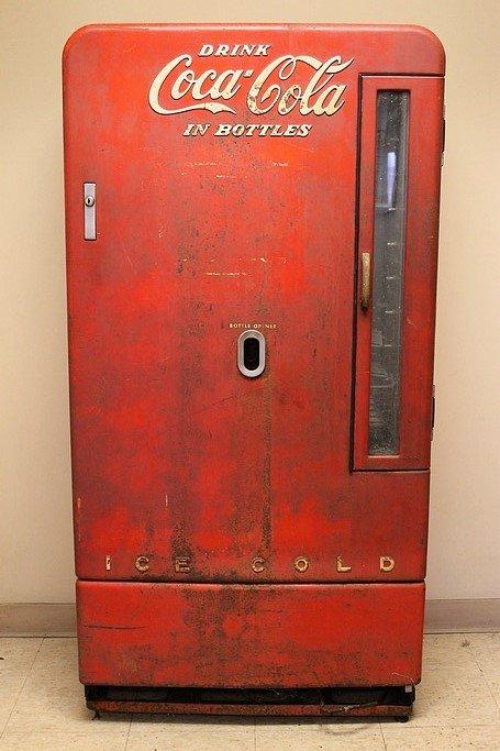 Tall coke machine