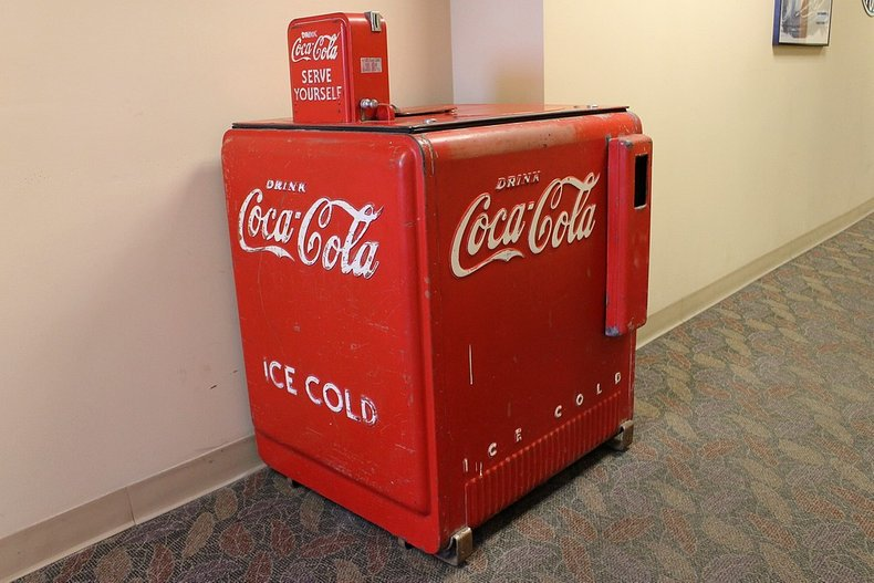 Short self serve coke machine