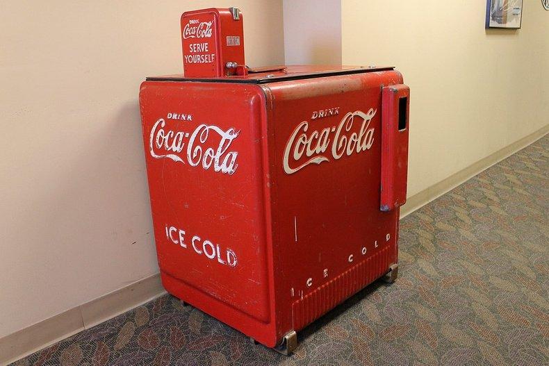 Short self serve coke machine