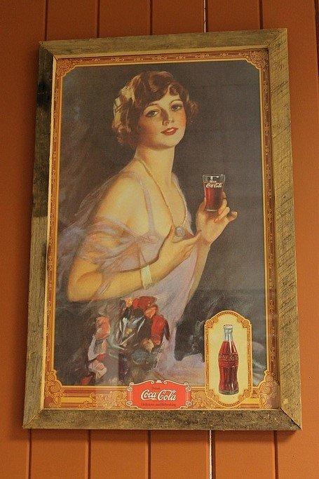 Elegant coca cola lady