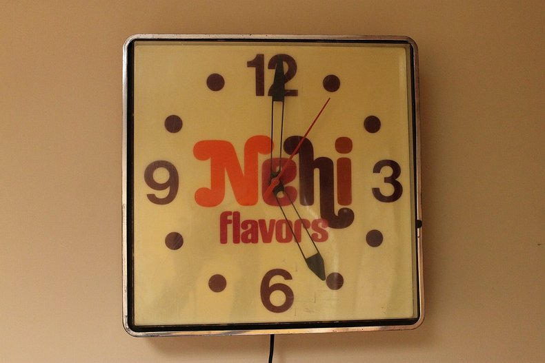 Nehi flavors clock