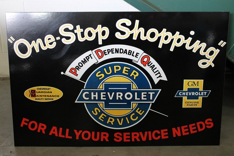 One stop shopping sign