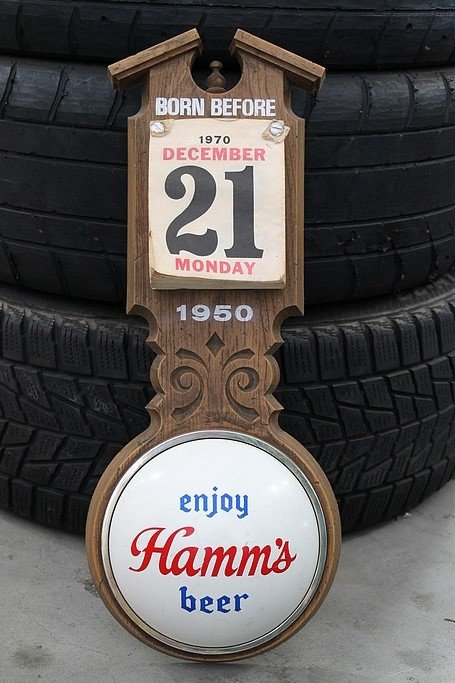 """Grand Rapids Auto Parts >> """"Hamm's Beer, 'Born Before' Sign"""" 