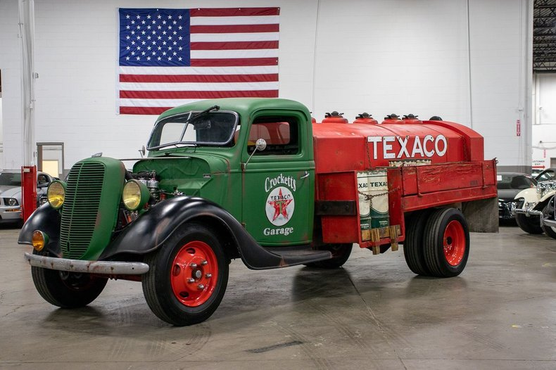 1937 ford 1 1 2 ton fuel tanker