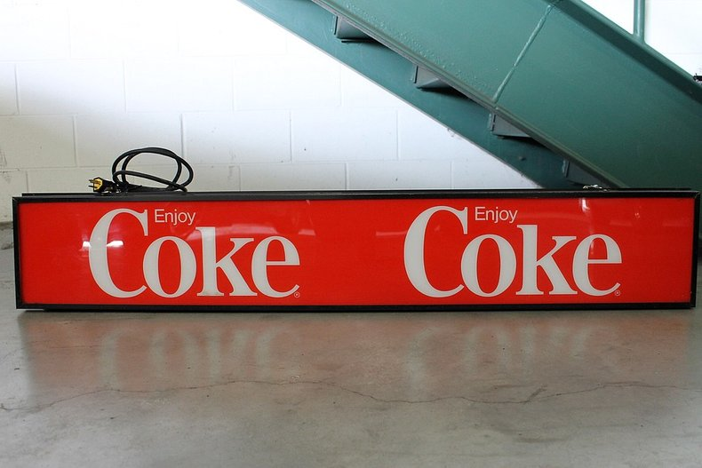 Light up coke sign