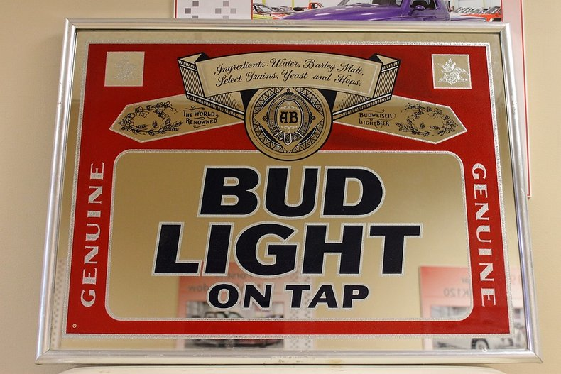 Bud light on tap mirror