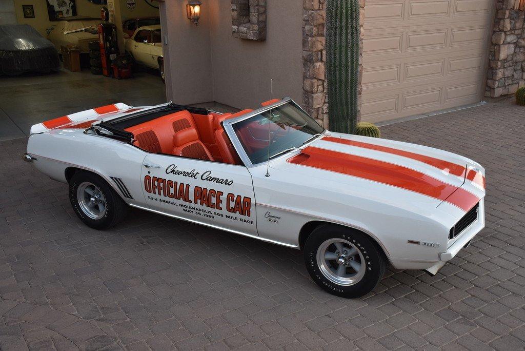 1969 chevrolet camaro rpo z11 396 pacecar
