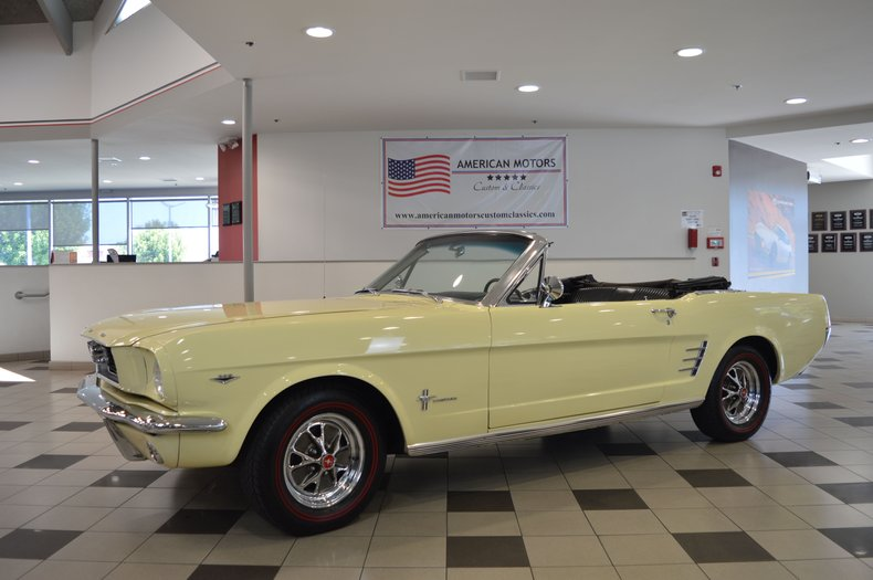 1966 Ford Mustang Convertible A Code