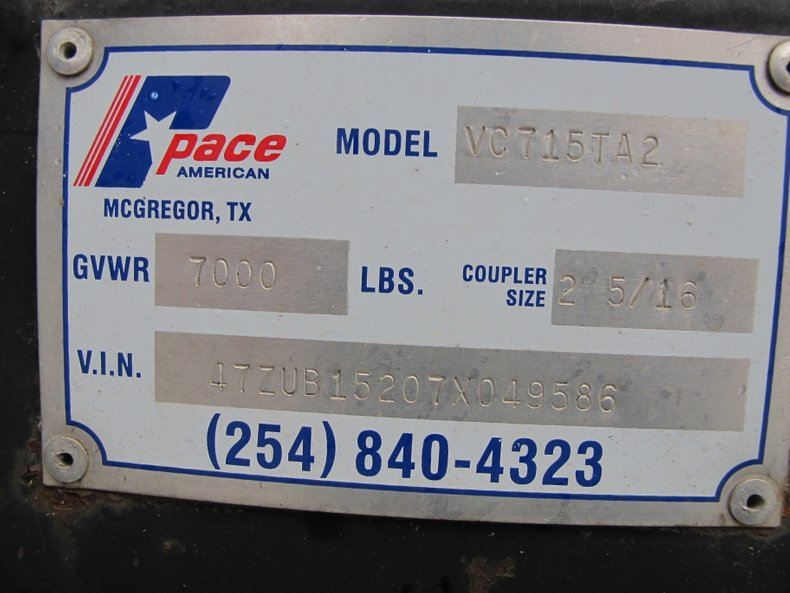 Pace American Vehicle