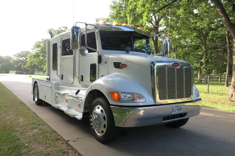 2012 Peterbuilt Schwalbe Stretched cab RV Hauler