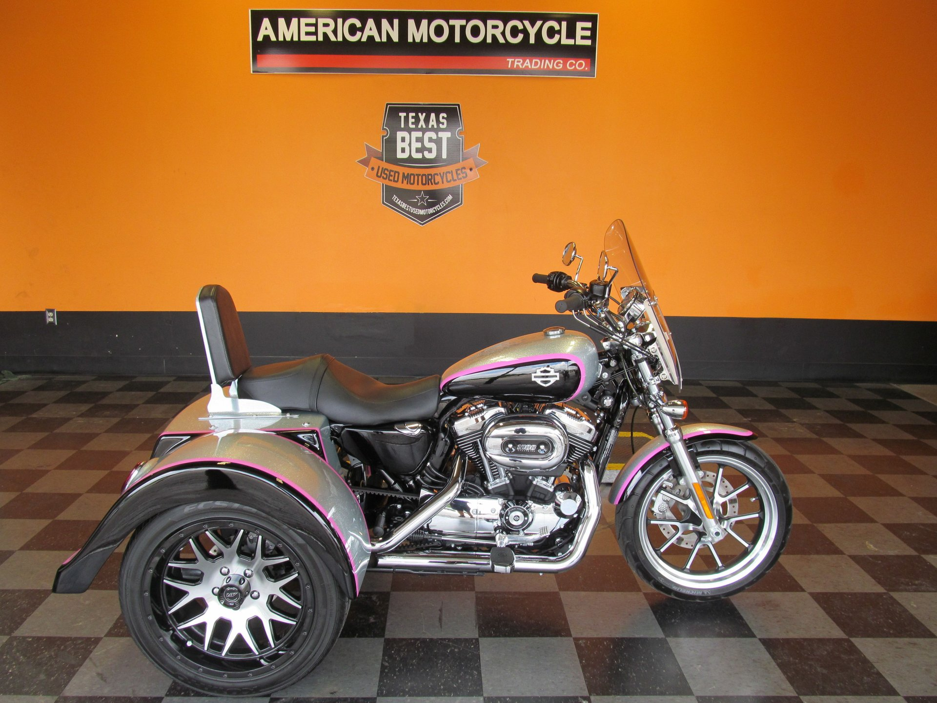 2014 harley davidson sportster 1200 superlow 1200t trike conversion