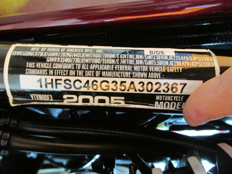 2005 Honda VTX1800F3