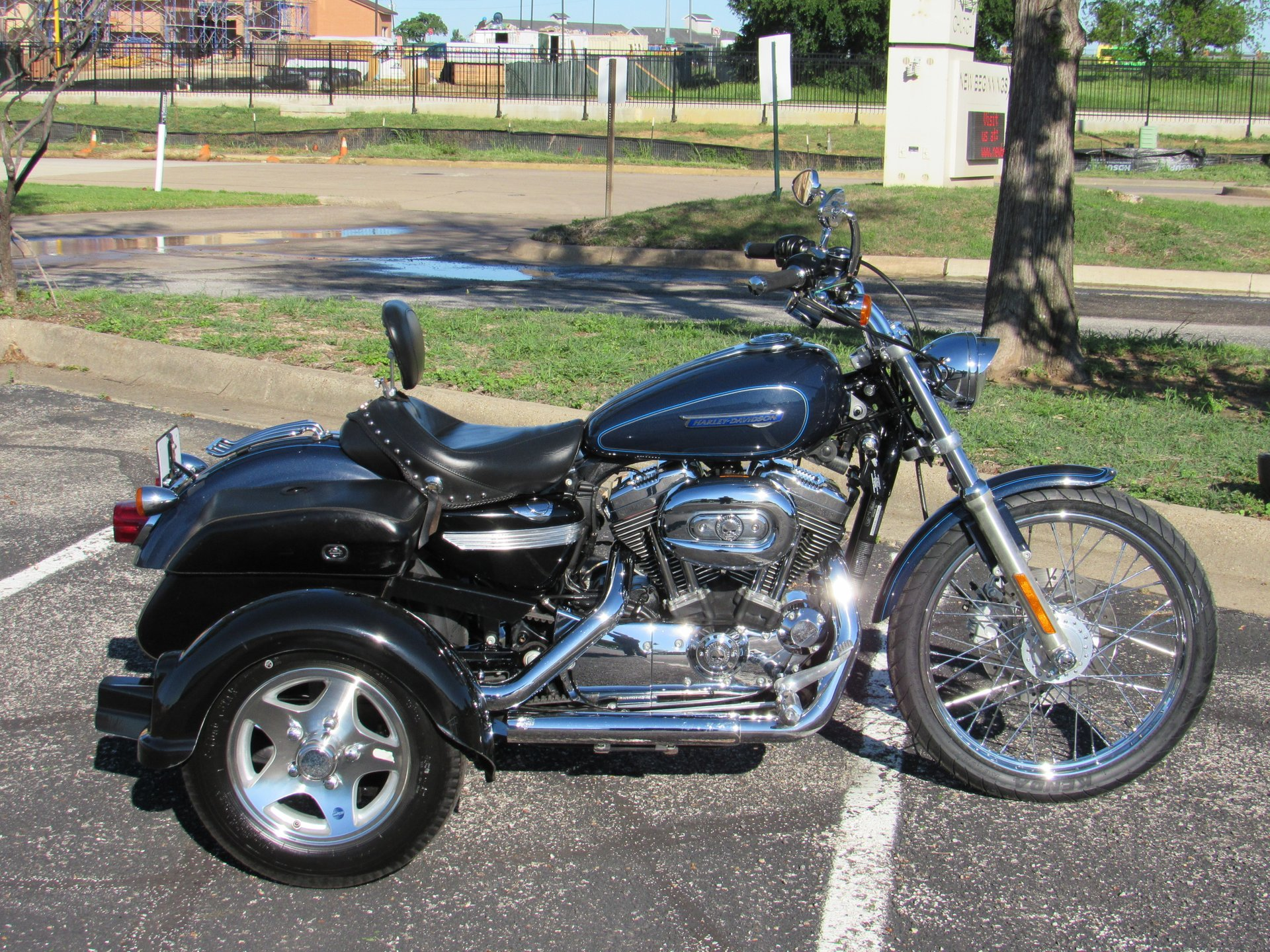 2008 harley davidson sportster 1200 custom xl1200c w tow pac conversion