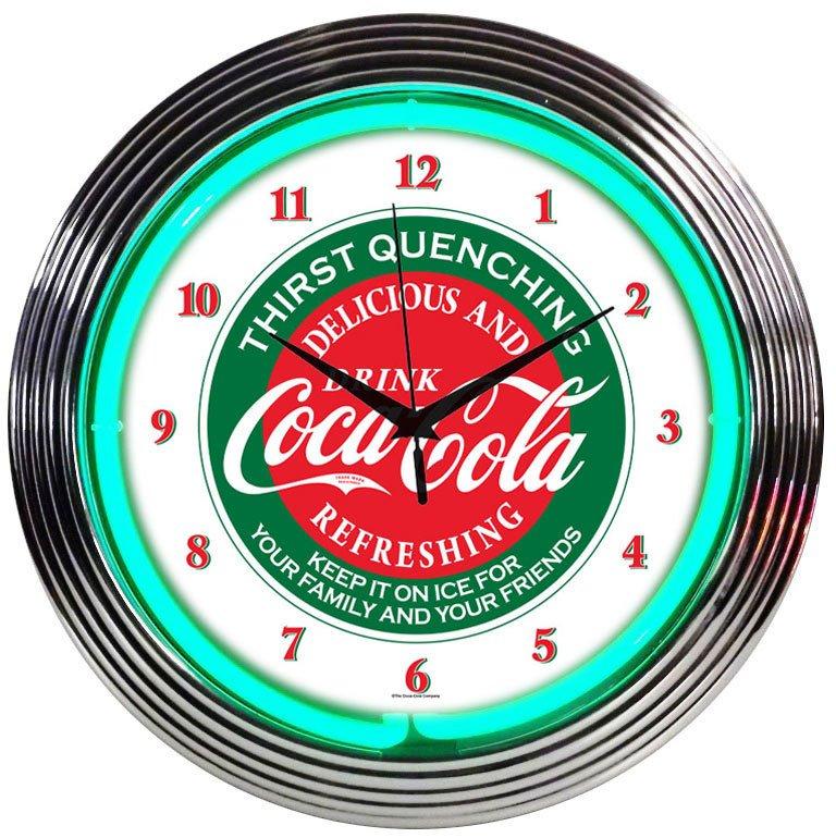Coca-Cola Evergreen Clock