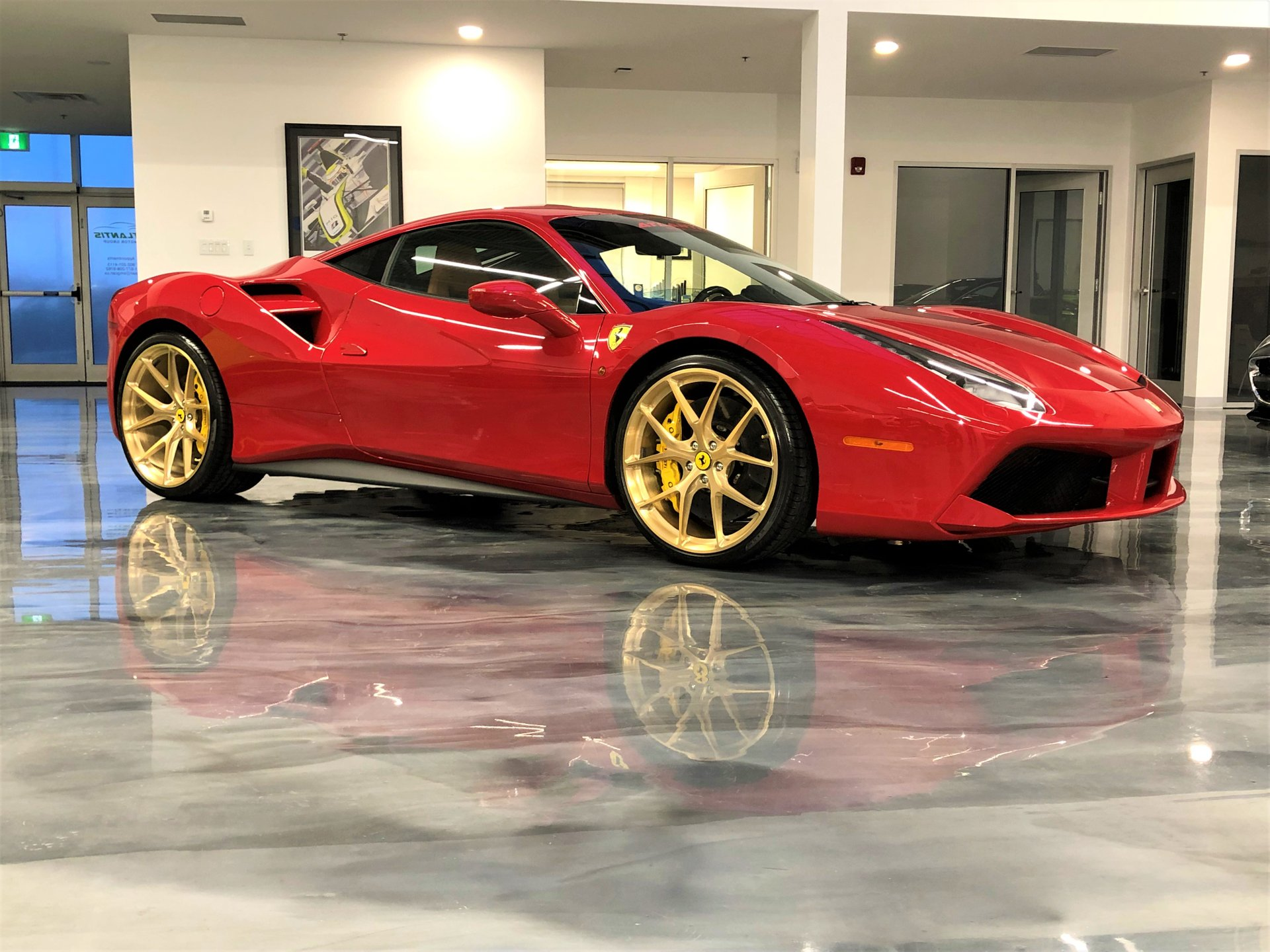 2017 ferrari 488 gtb custom hre wheels stock wheels included