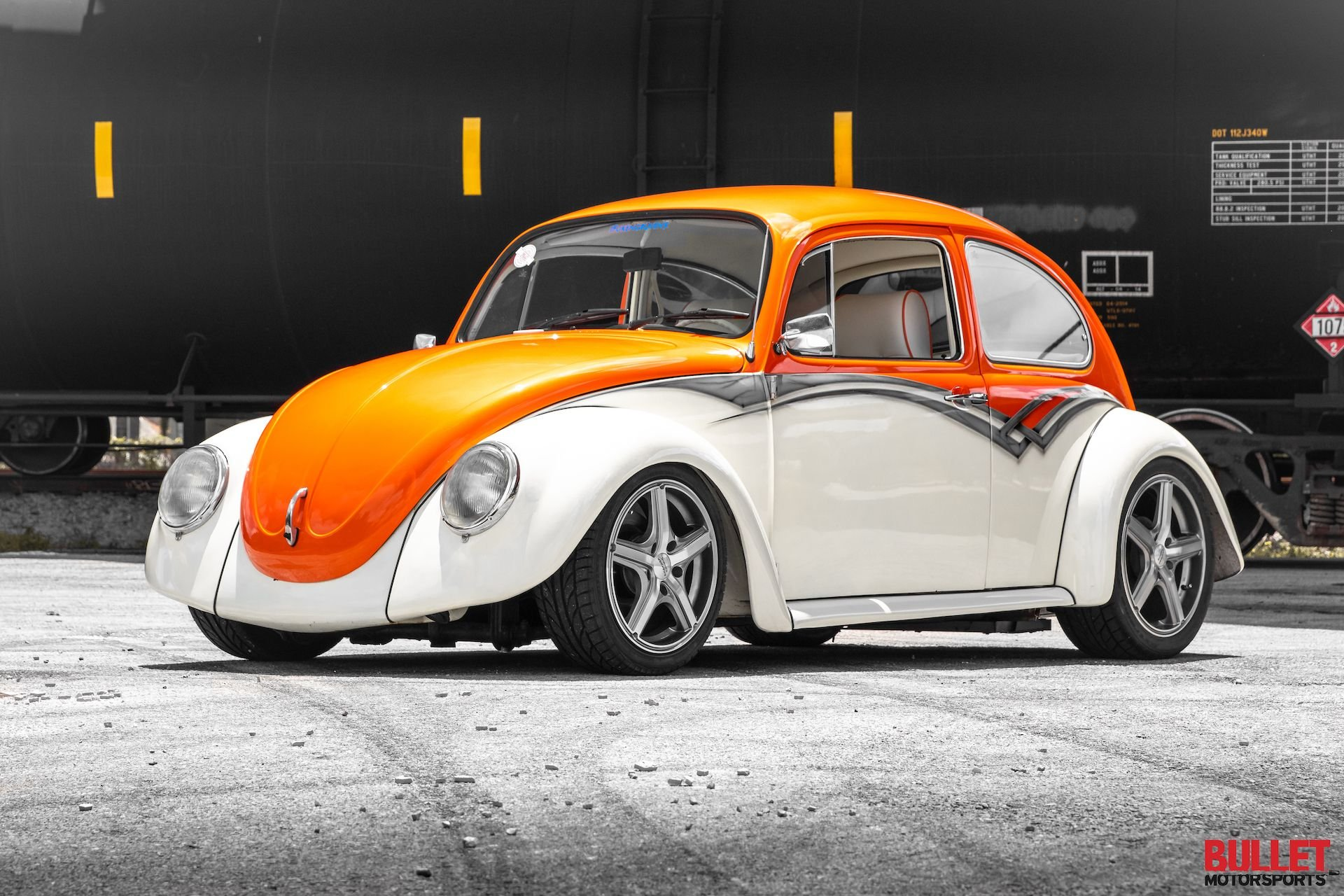 1968 volkswagen beetle orange crush