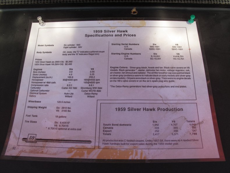 1959 Studebaker Silver Hawk 68