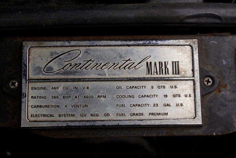 1971 Lincoln Mark III 17