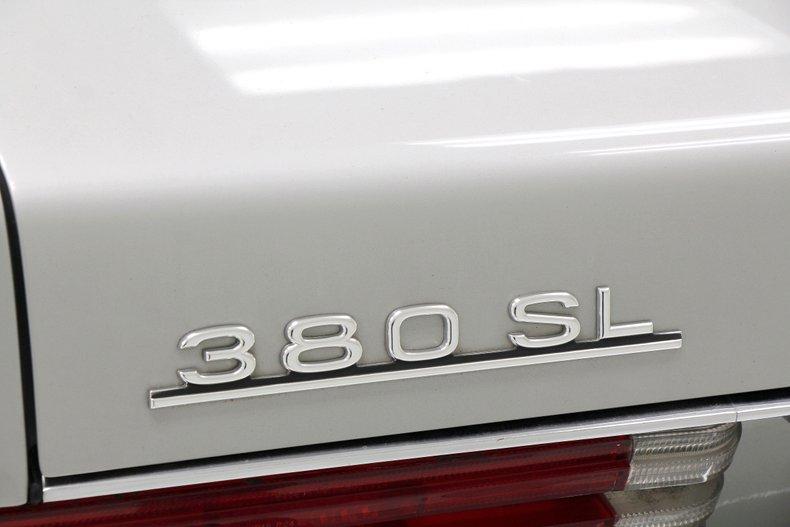 1984 Mercedes-Benz 380 SL Convertible 13