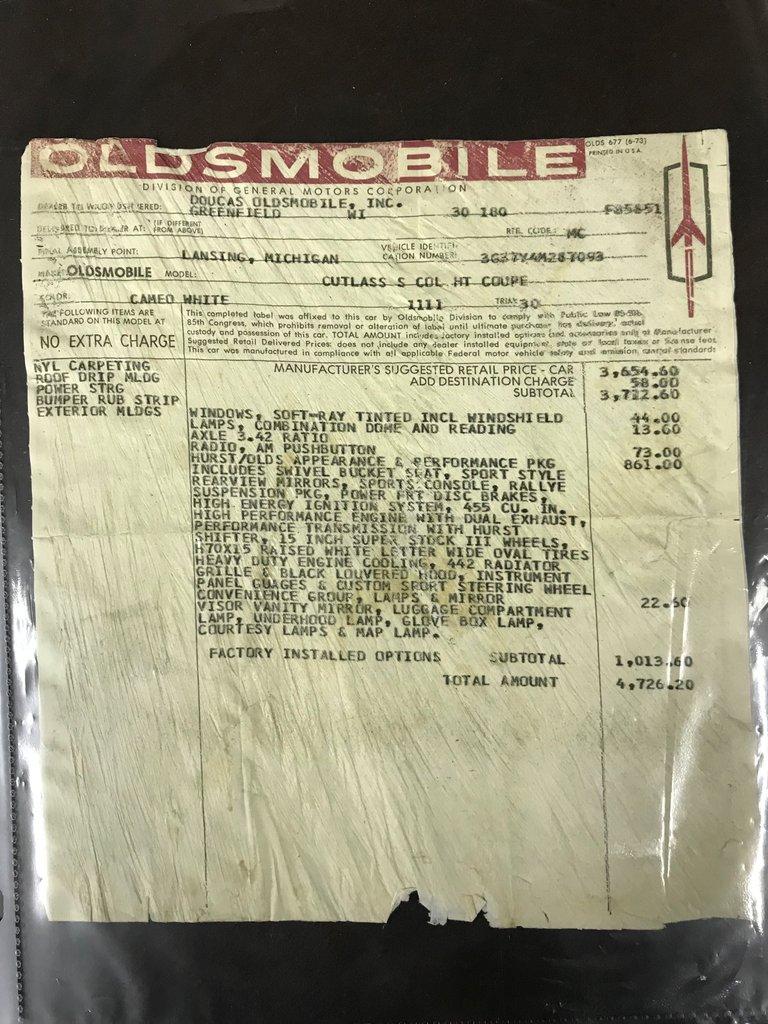 1974 Oldsmobile 442 63