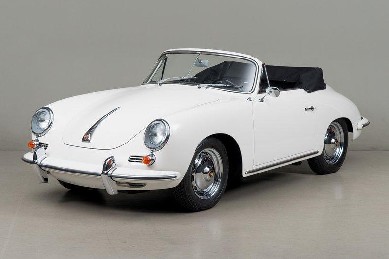 1963 Porsche 356B Cabriolet , WHITE, VIN 158419, MILEAGE 5385