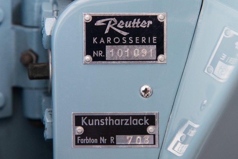 1957 Porsche 356 A, MEISSEN BLUE, VIN 101091, MILEAGE 39690