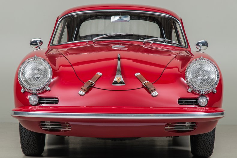 1961 Porsche 356B Coupe Super 90, RED, VIN 117335, MILEAGE 4895