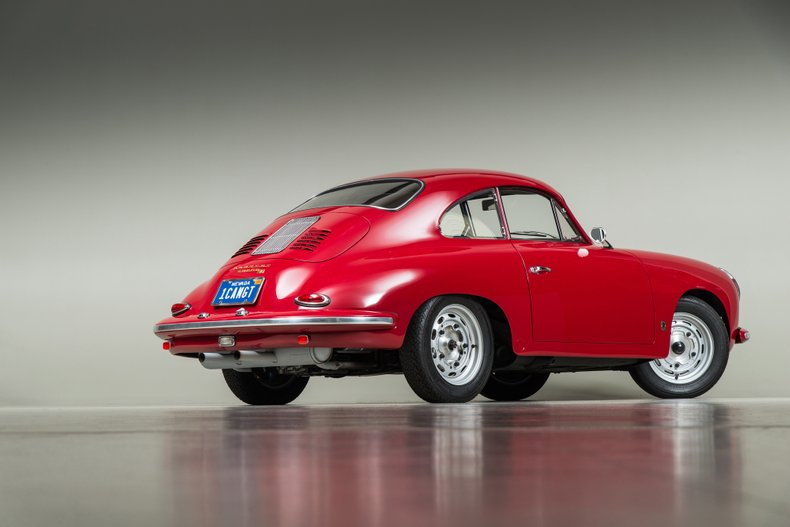 1961 Porsche 356B Coupe Super 90, RED, VIN 117335, MILEAGE 4895