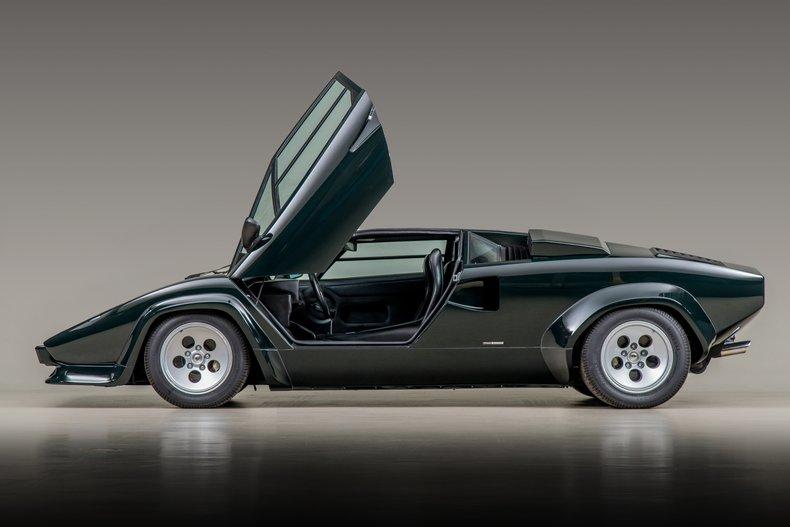 1986 Lamborghini Countach LP5000 Quattrovalvole , CANEPA GREEN, VIN ZA9C005A0GLA12871, MILEAGE 7792
