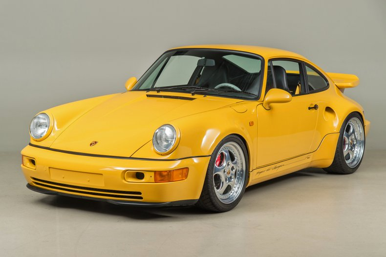 1993 Porsche 911 Turbo S Leichtbau, SPEED YELLOW, VIN WP0ZZZ96ZPS479036, MILEAGE 1403