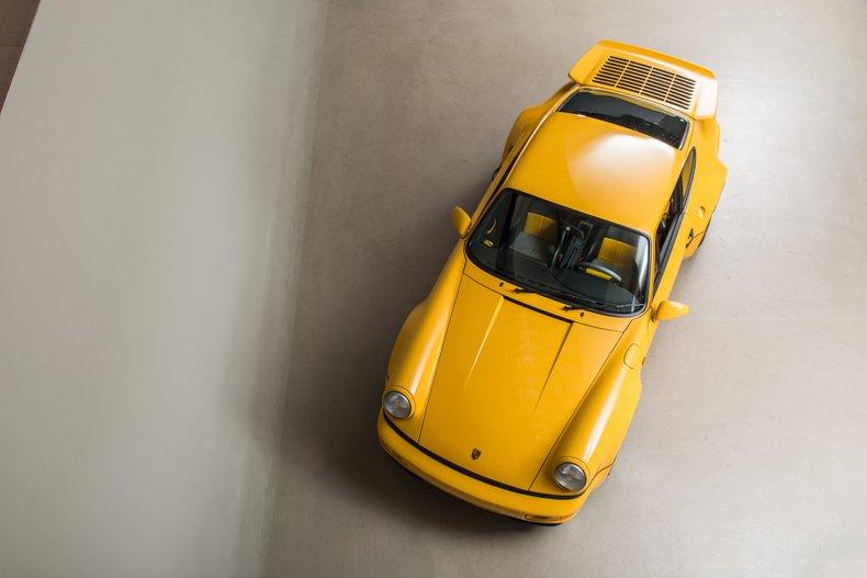 1993 Porsche 964 Turbo S Leichtbau, SPEED YELLOW, VIN WP0ZZZ96ZPS479036, MILEAGE 1403