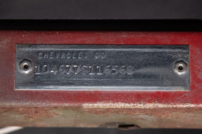1967 Chevrolet Corvette Roadster, RED, VIN 194677S116568, MILEAGE 2330