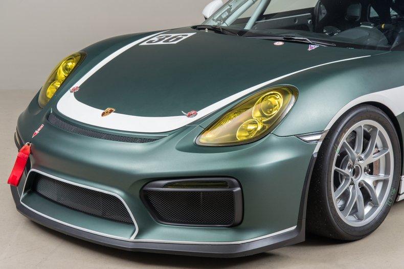 2016 Porsche Cayman GT4 Clubsport, GREEN, VIN WP0ZZZ98ZGK191665, MILEAGE 927